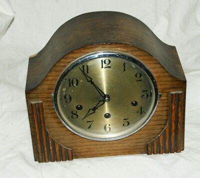 Vintage Oak Cased Mantel Clock With GUFA Chiming Movement (Westminster?)