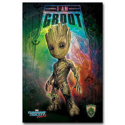 Guardians of the Galaxy Vol 2 Movie Poster Silk Print Wall Art Decor Baby Groot