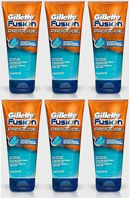 6 x Gillette Fusion Proglide Clear Shaving Gel Tube 175ml