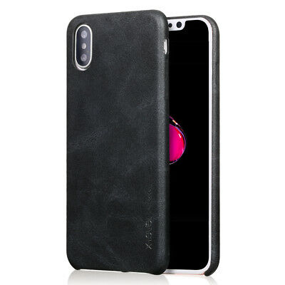 Luxury Ultra-thin PU Leather Shockproof Back Case Cover For iPhone XS Max XR X 8