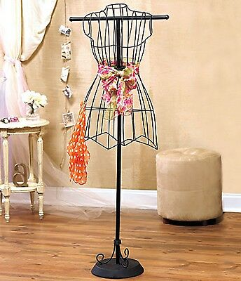 Vintage Style Wire Dress Form Mannequin Boutique Holder Store Display Sew Stands