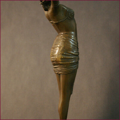 "SENSATINAL ART NOUVEAU 1900 BRONZ SCULPTURE ""Nubian Dancer"""