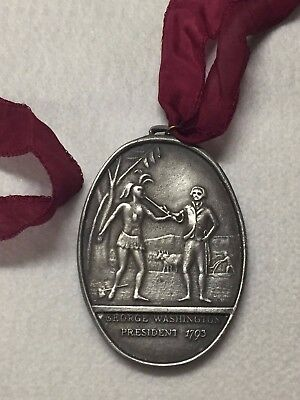1793 German Silver George Washington Peace Medal