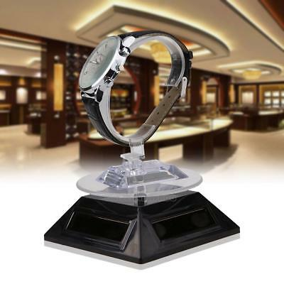 Solar Showcase 360 Degree Turntable Rotating Jewelry Watch Ring Display Stand
