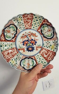 Antique Japanese plate with an unusual and good pattern