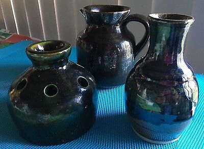 Lot Of Vintage Pottery Jug And Vases- Mid Century Decor Retro Ceramics