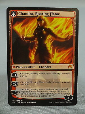 MTG Magic the Gathering Card X1 Chandra Roaring Flame Fire Kaladesh Origins EXNM