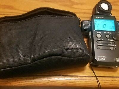 Sekonic L-558 Light Meter with case, really good Condition!