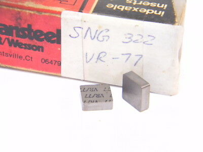 New Surplus 6Pcs. Vr/wesson Sng 322 Grade: Vr77  Carbide Inserts