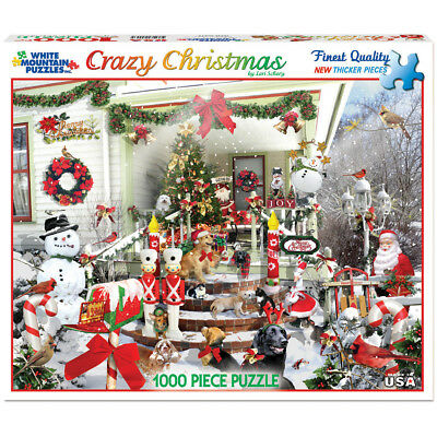 "Jigsaw Puzzle 1000 Pieces 24""X30"" Crazy Christmas WM981"