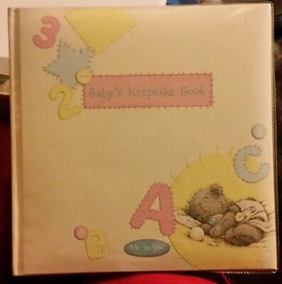 brand new me to you baby keepsake book baby's shower newborn gift
