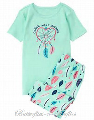 NWT Gymboree Gymmies Pajamas 2pc Shortie Set DREAM CATCHER Tee & Shorts Girls 6