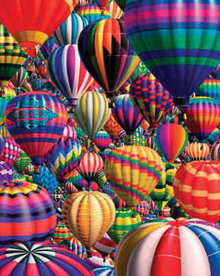 "Jigsaw Puzzle 1000 Pieces 24""X30"" Hot Air Balloons WM331"