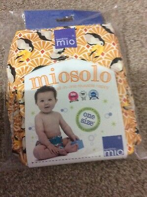 new unisex baby Bambino Mio Miosolo Reuseable All In One Nappy One Size Bnib