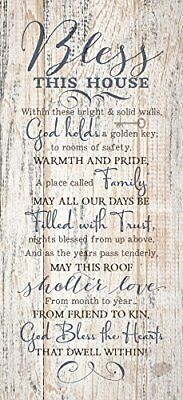 Bless This House...New Horizons Wood Plaque by Dexsa