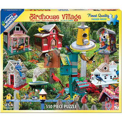 "Jigsaw Puzzle 550 Pieces 18""X24"" Birdhouse Village WM1137"