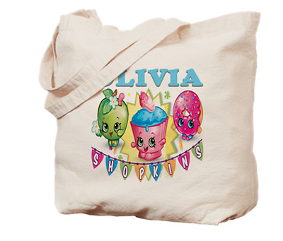 Shopkins Tote Bag Book Dance Personalized Name Girls Childs Gift Kids Birthday