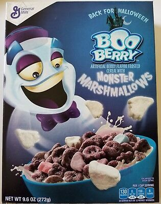 NEW 2017 Boo Berry Flavor Cereal + Monster Marshmallows FREE WORLDWIDE SHIPPING