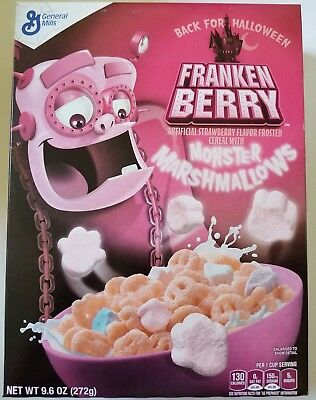 NEW 2017 Frankenberry Flavor Cereal + Monster Marshmallows FREE WORLD SHIPPING