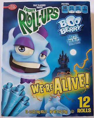 NEW Fruit Roll-Ups Boo Berry Razzle Boo Blitz Snack FREE WORLDWIDE SHIPPING