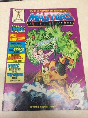 Masters Of The Universe Comic/magazine Issue # 11 Vintage 1986