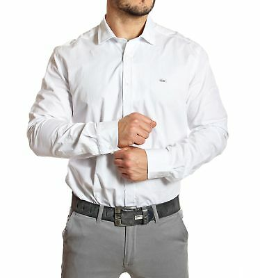 Lacoste - Chemise homme slim fit blanche col italien - Neuf