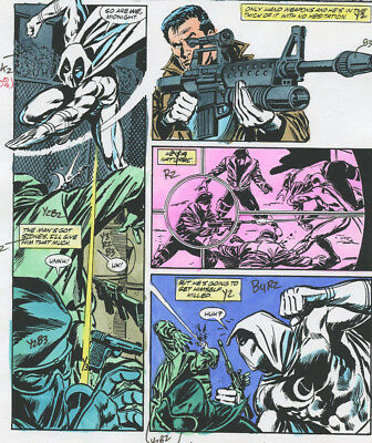 Marc Spector Moon Knight Issue 8 Original Color Guide Page 8 Punisher