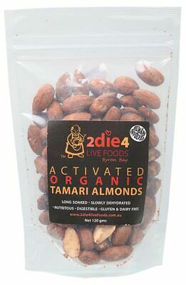 Activated Organic Tamari Almonds 120g - 2DIE4 Live Foods