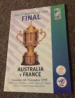 1999 Irb Rugby World Cup Official Program Mint Condition