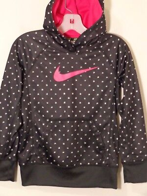 NIKE Youth Girl's Pullover Hoodie Size XS Black/Pink