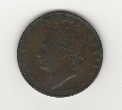 Great Britain 1/2 Penny 1826 Copper World Coin UK Seated Half Cent GB England