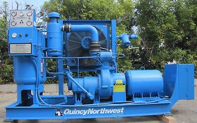 Quincy Northwest 50 HP Rotary Screw Air Compressor 460V 3 Ph 50hp Only 33,365 Hr