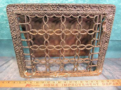 Cast Iron favorite air heater grate ornate restoration victorian beautiful wall