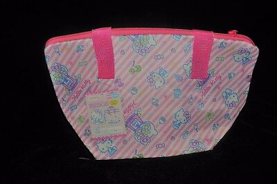 Sanrio Hello Kitty Pink Thermo Thermal Insulated Lunch Bento Pouch Bag