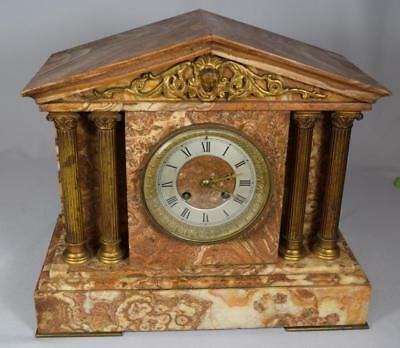 MARBLE MANTLE CLOCK Lot 61