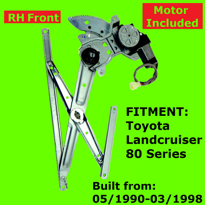 Electric Window Regulator Motor Right Front Toyota Landcruiser 80 Series 90-98