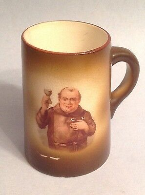 Small Ceramic Monk Mug Stein Tankard Monk With Goblet Raised