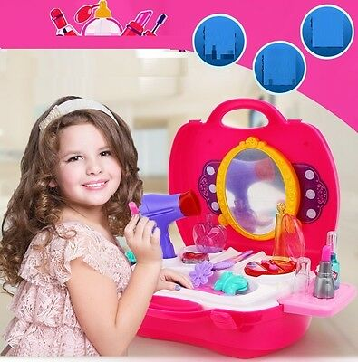 Girls Kids Makeup Set Pretend Play Dressing Up Beauty Cosmetic Vanity Toy