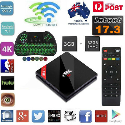 H96 Pro+ Android7.1 S912 Octa Core 3GB 32GB Dual WiFi 17.3 For TV Box&Keyboard