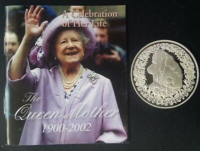 2002 Australia The Queen Mother 1 ounce Silver (.999) $5 Proof coin