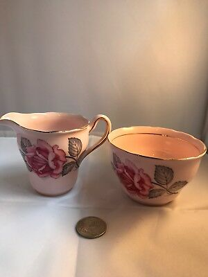 Vintage Colclough China Sugar And Creamer Jug Made In England