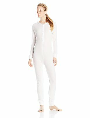 Fruit of the Loom Womens Waffle Thermal Union Suit White X-Large/2X-Large, New