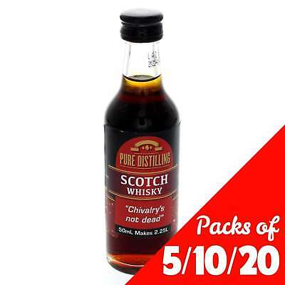 SCOTCH WHISKY Essence 50ml 5, 10 or 20 Pack Pure Distilling Home Brew