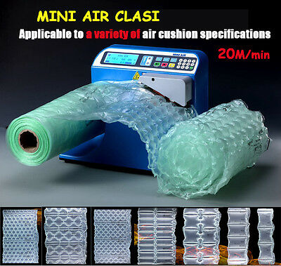 Inflated Air Clasi Cushion Bubble Filler Machine Tabletop Lightweight Footprint