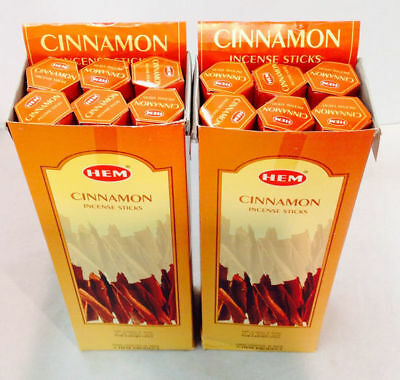 HEM CINNAMON BULK INCENSE STICKS - 12 Packets - 240 Sticks New