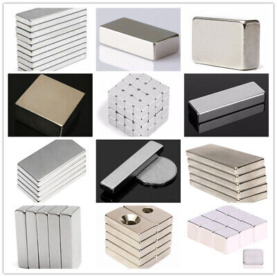 N52 N50 Super Strong Block Magnetic Rare Earth NdFeB Neodymium Cube Bar Magnets