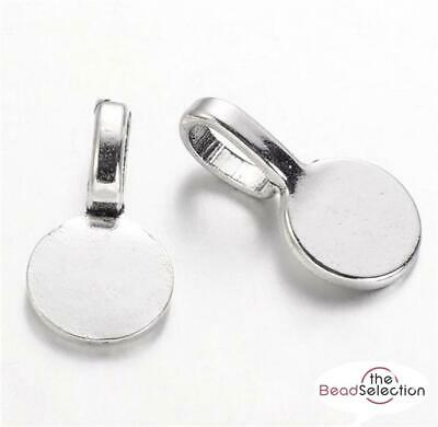 ROUND PENDANT BAILS GLUE ON 18mm x 10mm TIBETAN SILVER TOP QUALITY ( AK7 )