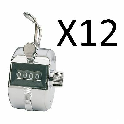 Champion Sports Baseball Pitch Tally Counter Clicker 4 Digit Display (12-Pack)