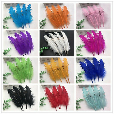Beautiful goose feathers 12-18 cm / 5-7 Inches DIY handmade crafts 10-100pcs