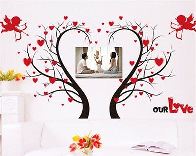 3D Angel Love Tree Floor/Wall Decoration Sticker Removable Mural Decal Vinyl Art